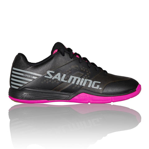 Salming Viper 5 Womens Indoor Court Shoe (Black/Pink Jewel) - RacquetGuys