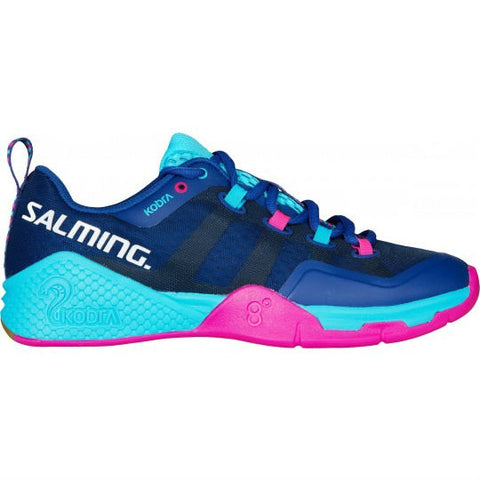 Salming Kobra 2 Womens Indoor Court Shoe (Limoges Blue/Pink Jewel) - RacquetGuys