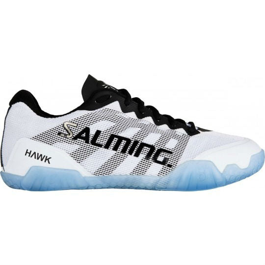 Salming Hawk Mens Indoor Court Shoe (White/Black) - RacquetGuys