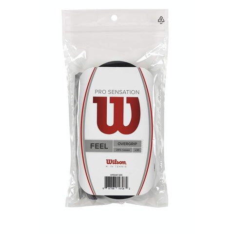 Wilson Pro Sensation Overgrip 30 Pack (Black) - RacquetGuys