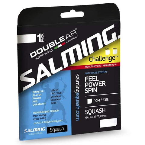 Salming Challenge Slick 17 Squash String (Royal Blue) - RacquetGuys
