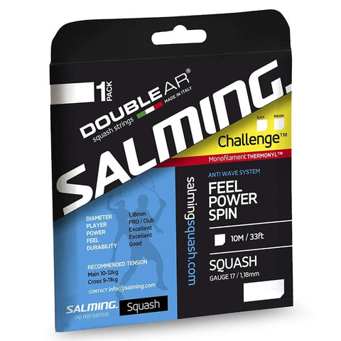 Salming Challenge Slick 17 Squash String (Purple/Yellow) - RacquetGuys