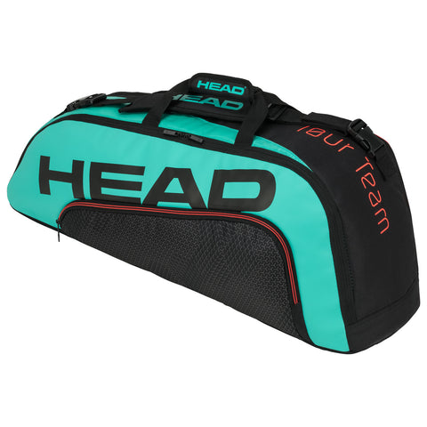 Head Tour Team Combi 6 Pack Racquet Bag (Black/Teal) - RacquetGuys