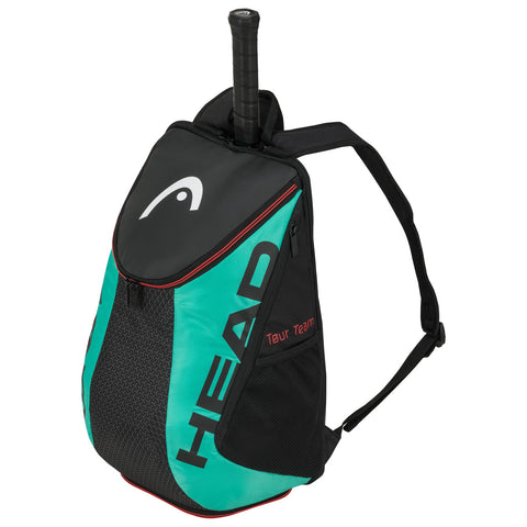 Head Tour Team Backpack Racquet Bag (Black/Teal) - RacquetGuys