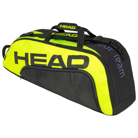 Head Tour Team Extreme Combi 6 Pack Racquet Bag (Black/Yellow) - RacquetGuys