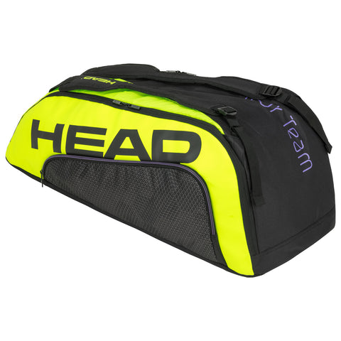 Head Tour Team Extreme Supercombi 9 Pack Racquet Bag (Black/Yellow) - RacquetGuys