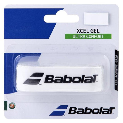 Babolat Xcel Gel Replacement Grip (White) - RacquetGuys.ca
