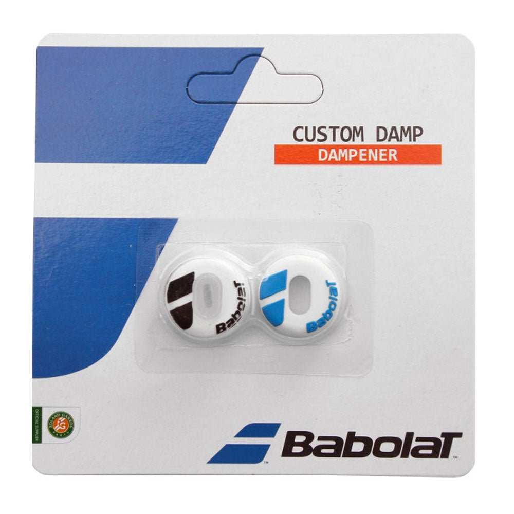 Babolat Customizable Vibration Dampener (White/Blue) - RacquetGuys.ca