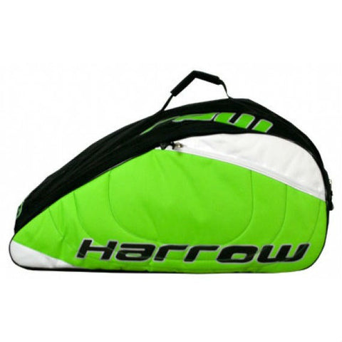 Harrow Pro Squash 12 Pack Racquet Bag (Green) - RacquetGuys