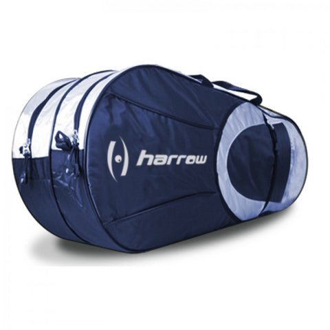 Harrow Tour 6 Pack Racquet Bag (Navy/Silver) - RacquetGuys
