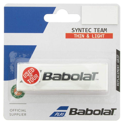 Babolat Syntec Team Replacement Grip (White) - RacquetGuys.ca