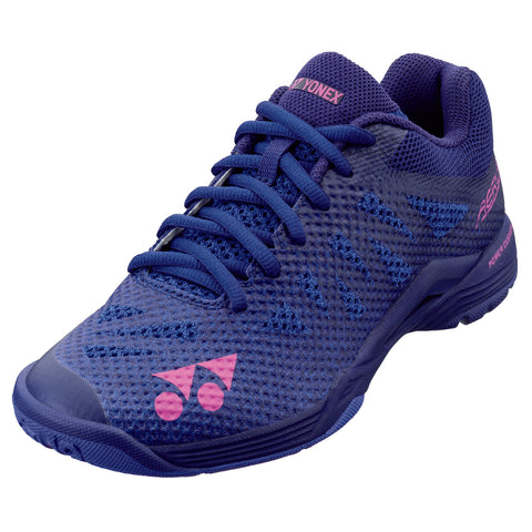 Yonex Power Cushion Aerus 3 Womens Indoor Court Shoe (Navy Blue) - RacquetGuys