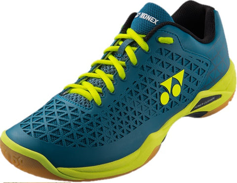 Yonex Power Cushion Eclipsion X Mens Indoor Court Shoe (Turquoise/Yellow) - RacquetGuys