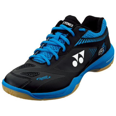 Yonex Power Cushion 65 Z2 Men's Indoor Court Shoe (Black/Blue) - RacquetGuys