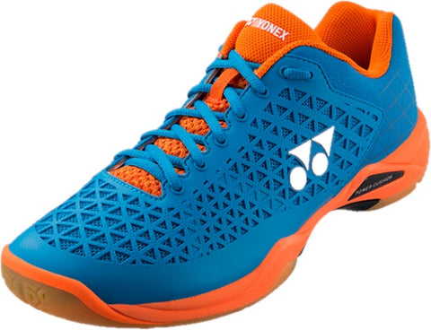 Yonex Power Cushion Eclipsion X Mens Indoor Court Shoe (Blue/Orange) - RacquetGuys