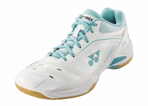 Yonex Power Cushion 65 X Womens Indoor Court Shoe (White/Mint) - RacquetGuys