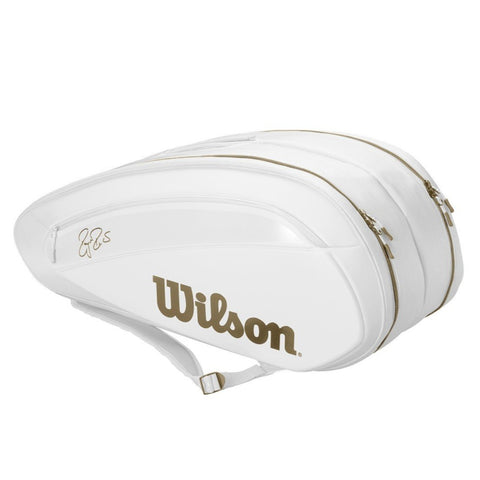 Wilson Federer DNA 12 Racquet Bag (White/Gold)