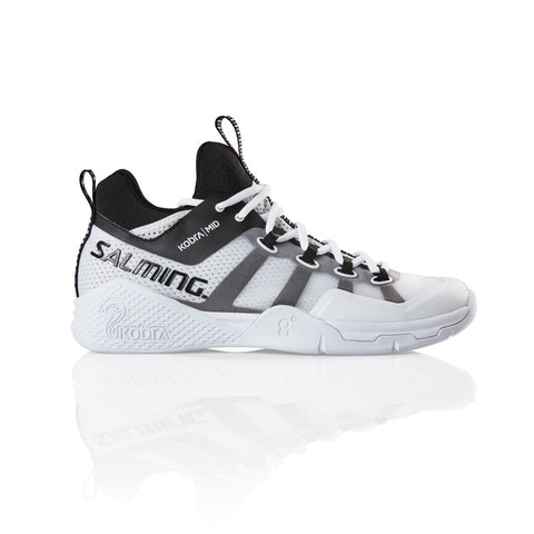 Salming Kobra Mid 2 Men's Indoor Court Shoe (White/Black) - RacquetGuys