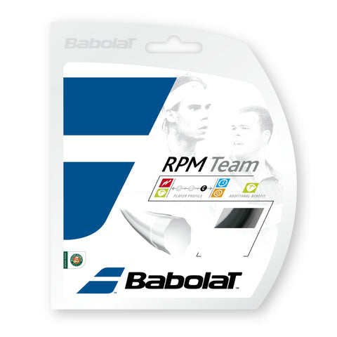 Babolat RPM Team 17 Tennis String (Black) - RacquetGuys