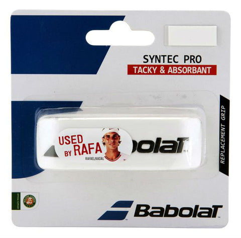 Babolat Syntec Pro Replacement Grip (White) - RacquetGuys