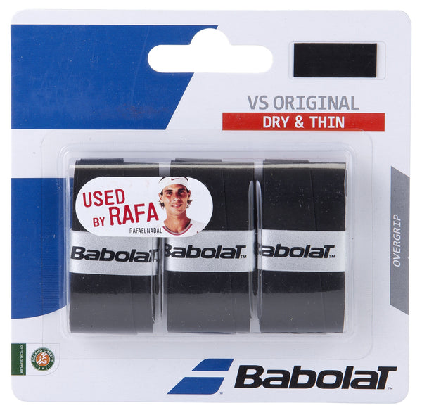 Babolat VS Original Overgrip 3 Pack (Black) - RacquetGuys