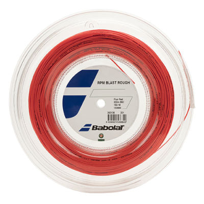 Babolat RPM Blast Rough 16 Tennis String Reel (Red) - RacquetGuys.ca