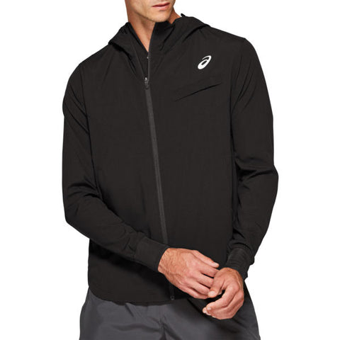 Asics Men's Elite Tennis Jacket (Black) - RacquetGuys