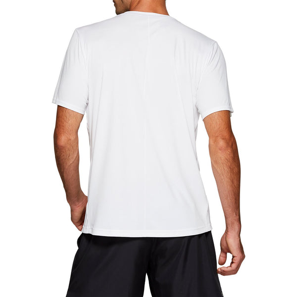 Asics Men's Practice Graphic Short Sleeve (White) - RacquetGuys