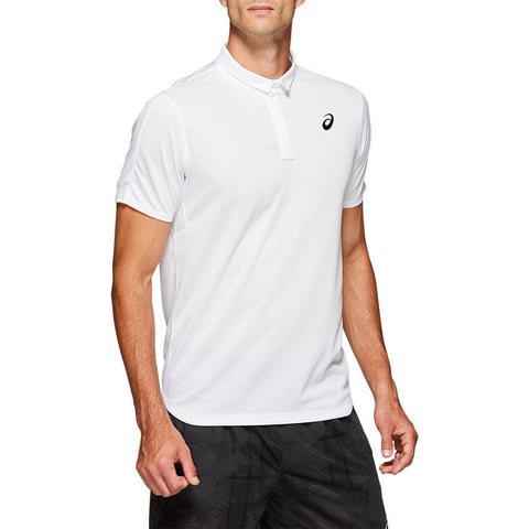 Asics Men's Club Polo (White) - RacquetGuys