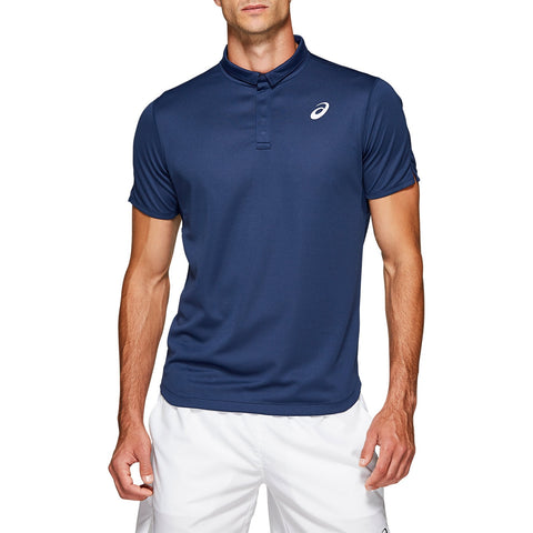 Asics Men's Club Polo (Blue) - RacquetGuys