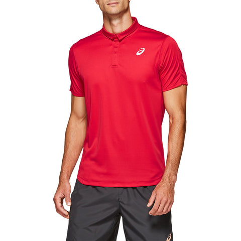 Asics Men's Club Polo (Red) - RacquetGuys