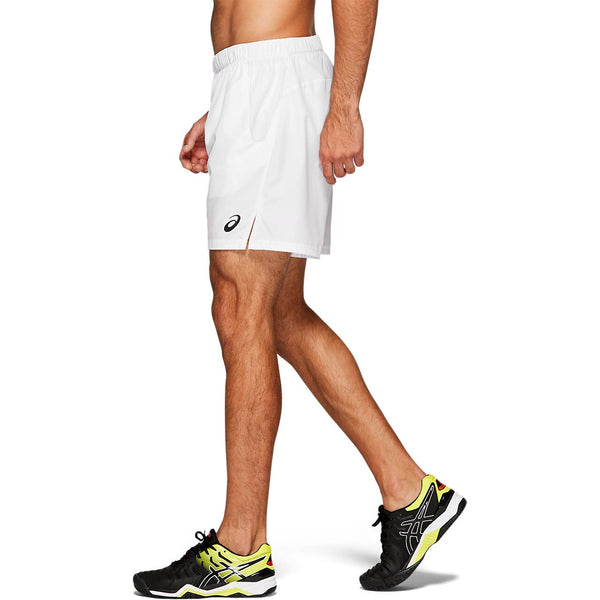 Asics Men's Club Shorts (White) - RacquetGuys