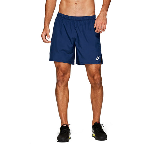 Asics Men's Club 7 Inch Shorts (Blue) - RacquetGuys
