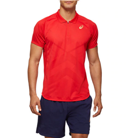 Asics Men's Club Polo (Red)