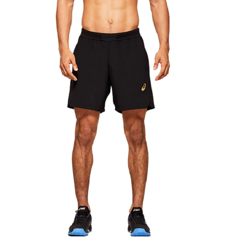 Asics Men's Club 7 Inch Shorts (Black) - RacquetGuys.ca