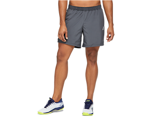 Asics Men's No Sprinter Club Shorts (Grey) - RacquetGuys.ca
