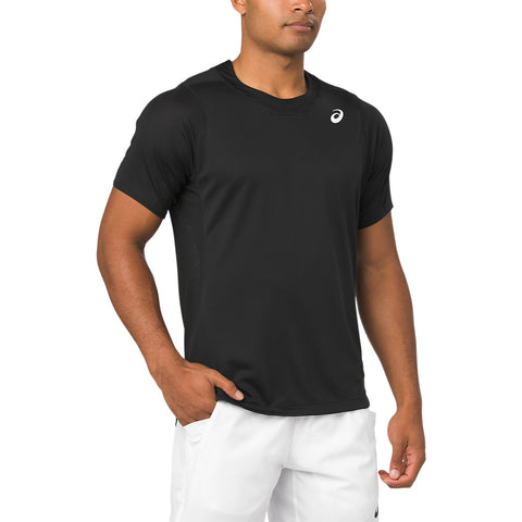 Asics Men's Gel Cool Short Sleeve Top (Black) - RacquetGuys