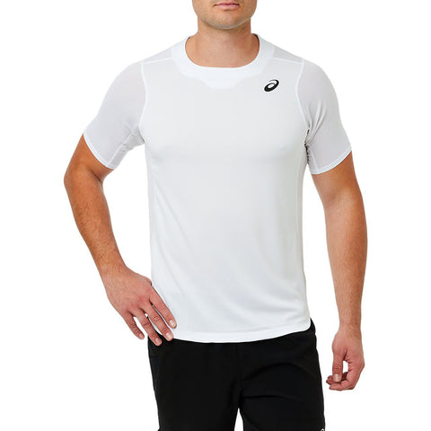 Asics Men's Gel Cool Short Sleeve Top (White) - RacquetGuys