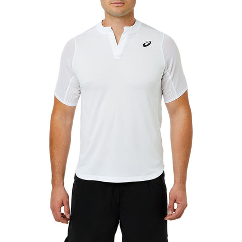 Asics Men's Gel Cool Polo (White) - RacquetGuys