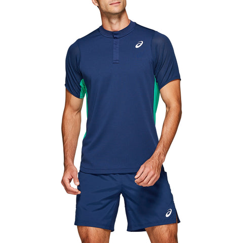 Asics Men's Gel Cool Polo (Blue) - RacquetGuys