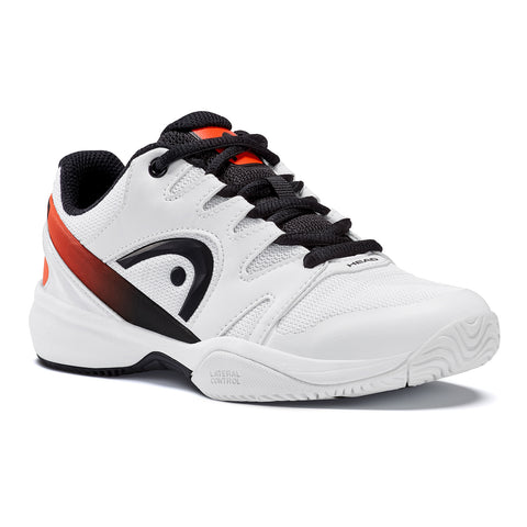 Head Sprint 2.0 Junior Tennis Shoe (White/Black) - RacquetGuys.ca