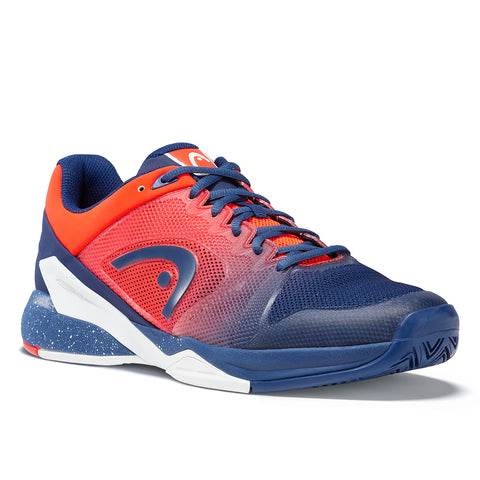 HEAD Revolt Pro 2.5 Mens Tennis Shoe (Blue/Orange) - RacquetGuys