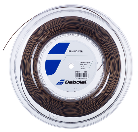 Babolat RPM Power 17 Tennis String Reel (Electric Brown) - RacquetGuys.ca