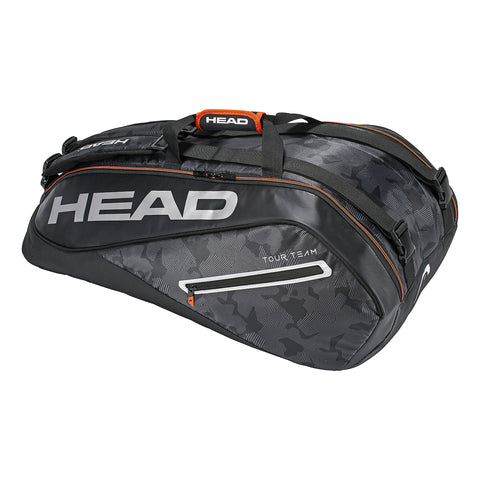 HEAD Tour Team Supercombi 9 Racquet Bag (Black/Silver) - RacquetGuys