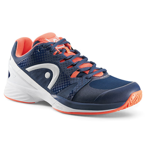 HEAD NZZZO Pro Womens Tennis Shoe (Navy/Coral) - RacquetGuys