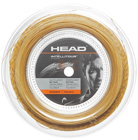 HEAD IntelliTour 17 Tennis String Reel (Yellow/Natural) - RacquetGuys