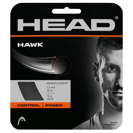 Head Hawk 16 Tennis String (Silver) - RacquetGuys.ca