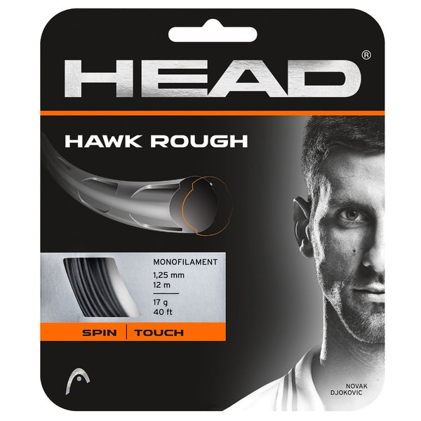Head Hawk Rough 17 Tennis String (Anthracite) - RacquetGuys
