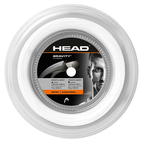 HEAD Gravity 17 Hybrid Tennis String Reel (White/Silver)