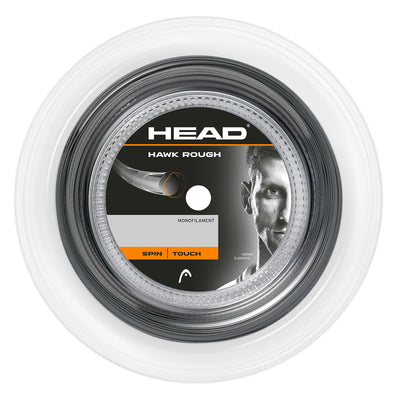 HEAD Hawk Rough 17 Tennis String Reel (Anthracite)